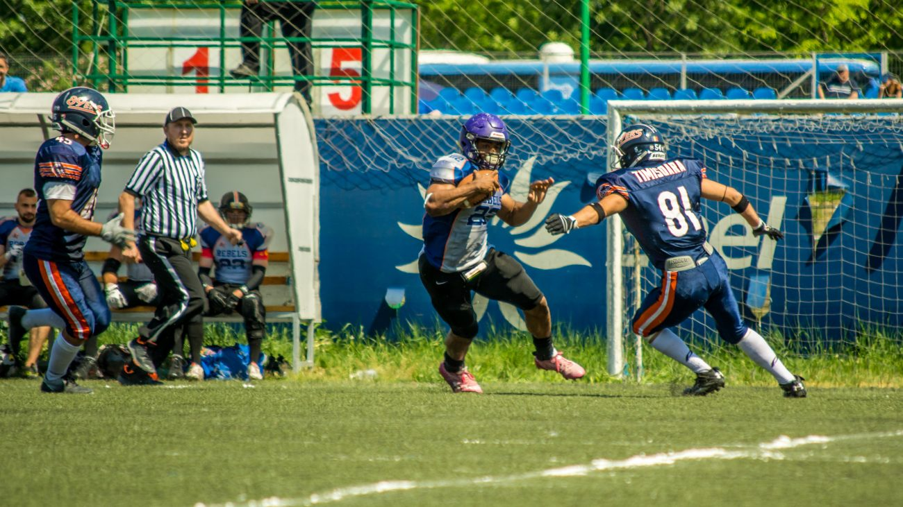 #22 David White Bucharest Rebels - Timisoara 89ers @ Bucharest Rebels CNFA 2018