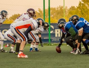 Timisoara 89ers Bucharest Rebels CNFA 2017 scrimmage line